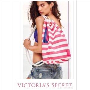 Victoria's Secret Canvas rope tassel Cinch Sack